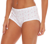 Floral Print high waist Full Briefs fine rib