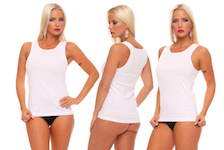 Ladie`s-unddershirt without lace plain white full cotton