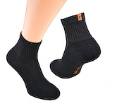 black sports shortsocks with terry sole and ornge heel flag cocain logo