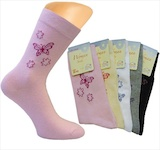 "Ladie`s socks ""Butterfly"" without incutting elastic"