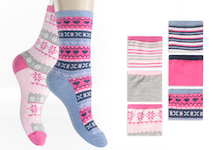 bright coloured thermo-socks full terry with scandinavian design