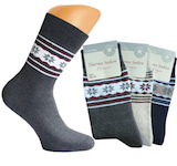 ladies thermo socks full terry plain with winter-ringlets around the shaft