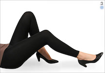 Ladies Thermo leggings plain black