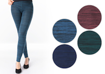 thermo leggings in elegant melange colours plain
