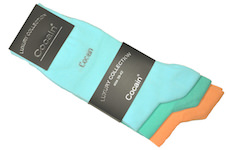 plain bright coloured Luxury socks for ladies from Cocain