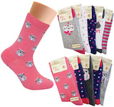 Girls' colours and motifs in a 5-pairs-pack