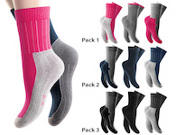 great thermal socks with  intense coloured sole and heel  2-colored ribbed edge